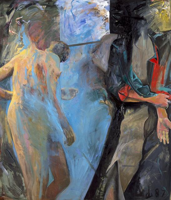 Die besondere Einheit, Öl auf Leinwand, 213 × 184 cm, 1987