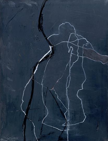 Februar 1990, Öl auf Leinwand, 150 × 115 cm, 1990