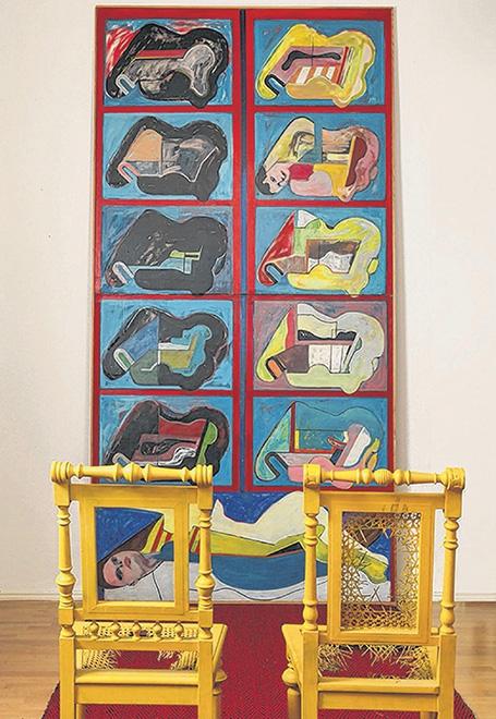 Hommage à Juryfreie, 1965, Öl auf Leinwand, 304 x 145 cm, Courtesy Kunststiftung Poll