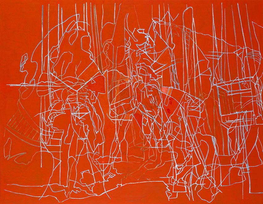 Juli, Öl auf Leinwand, 220 × 284 cm, 1991