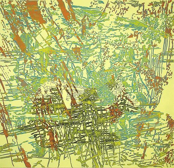 July 4, 2001, Öl auf Leinwand, 211 × 218,5 cm, 2001