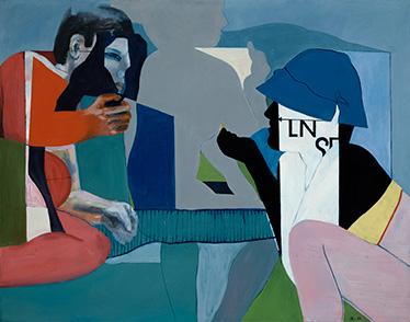 LN6, Öl auf Leinwand, 98 × 125 cm, 1966