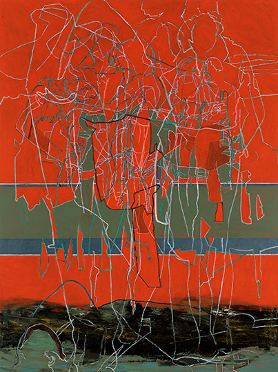 März, Öl auf Leinwand, 284 × 214 cm, 1991