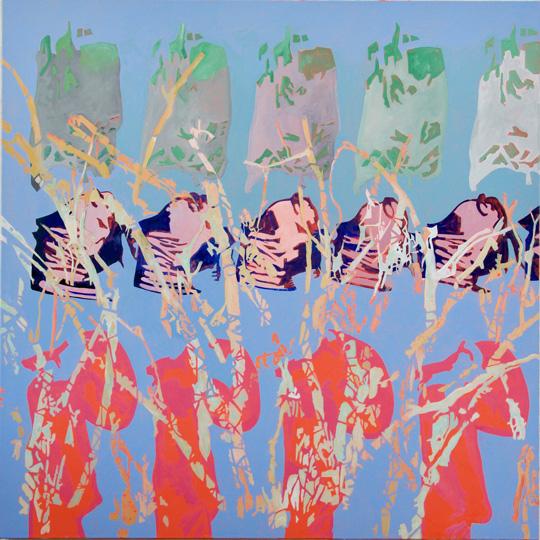 März 2019, Öl auf Leinwand, 160 × 160 cm, 2019