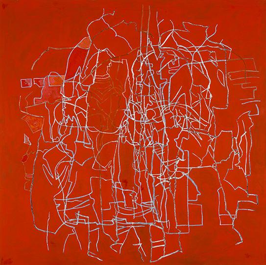 Okt., Öl auf Leinwand, 214 × 215 cm, 1991
