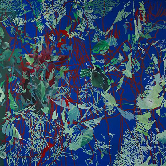 Okt. 2016, Öl auf Leinwand, 160 × 160 cm, 2016