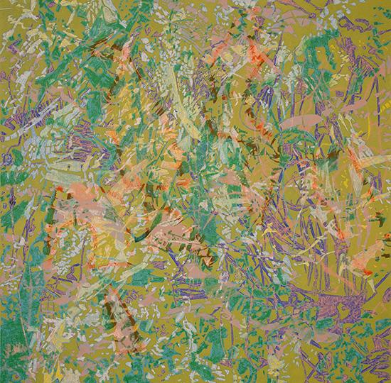 Okt 5, 2003, Öl auf Leinwand, 218 × 218,5 cm, 2003