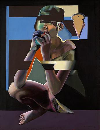 Revolutionärin, Öl auf Leinwand, 150 × 115 cm, 1969, Privatbesitz