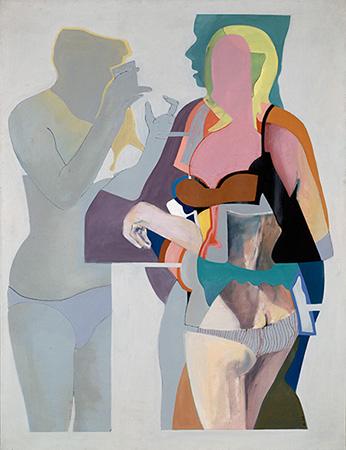 Witwenplausch, Öl auf Leinwand, 150 × 115 cm, 1966
