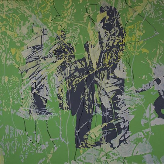 Grünes Bild, Öl auf Leinwand, 160 × 160 cm, 2015